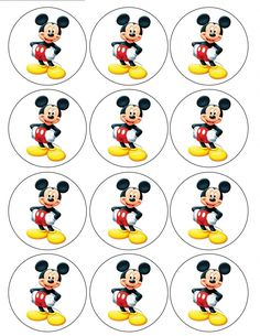 "Single Source Party Supply - 2.5"" Mickey Mouse Cupcake Edible Icing Toppers"