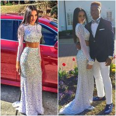 Find More Prom Dresses Information about abendkleider new luxury high collar heavy beads stones crystal two piece prom dress 2015 floor length long evening dress,High Quality Prom Dresses from Red Sun Dress Store on Aliexpress.com