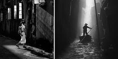 "beautiful photos of street life in Hong Kong by Chinese photographer Fan Ho. His new book: ""Fan Ho: A Hong Kong Memoir"""