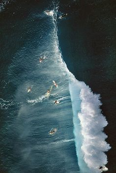"Big wave surfing is a discipline within surfing where experienced surfers paddle into or are towed onto waves which are at least 20 feet m) high, on browse boards referred to as ""guns"" or towboards. Sizes of the board had to effectively surf these. No Wave, Surf Mar, All Nature, Nature Water, Surfs Up, Ocean Waves, Big Waves, Water Waves, Ocean Beach"