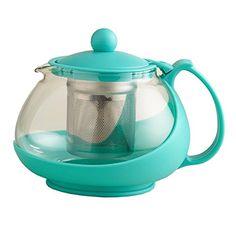 Aqua Glass Teapot Loose Leaf Tea Infuser Pot World Market Glass Coffee Mugs, Coffee Spoon, Unique Coffee Mugs, Quirky Kitchen, Real Kitchen, Glass Teapot, Aqua Glass, Tea Infuser, Tea Kettles