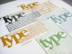 Lubalin poster set, print #3: Type poster by Nick Sherman, via Flickr