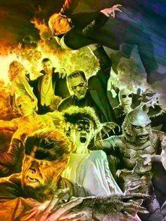 The Monster Squad for me. Retro Horror, Vintage Horror, Monster Squad, Monster Art, Horror Show, Horror Art, Fanart, Horror Monsters, Classic Horror Movies