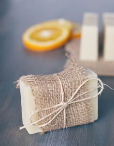 DIY Orange & Tea Tree Soap—great  for gifting!
