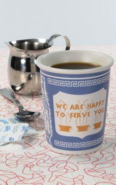 NYC Anthora Greek Diner Ceramic Coffee Cup