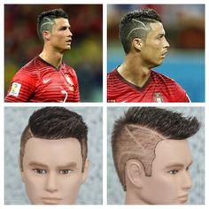 Cristiano Ronaldo Zig Zag World Cup 2014 Haircut Tutorial