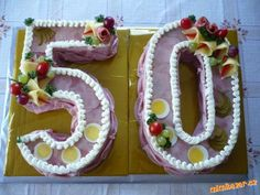 Aspiková 50 Sandwich Torte, Vegetable Carving, Buffet, Food Design, Charcuterie, Diy Food, Food Art, Side Dishes, Sandwiches