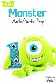 DIY Monster Wooden Number Prop Simplistically Living
