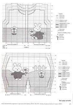 """Детский комплект """"Банни"""" (кофта, комбинезон и берет) связан в технике многоцветного вязания. Схемы, описание. Размеры для детей для 3, 6 и 9 месяцев.…"""