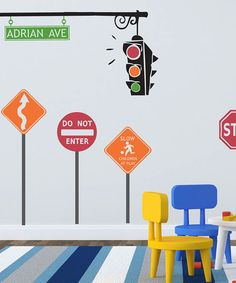 Take a look at this Traffic Set Personalized Wall Decal by Sissy Little on #zulily today!