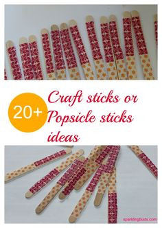 20+ Popsicle  or craft sticks ideas for kids