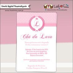 Convite Chá de Bebê Provençal Princesa para imprimir