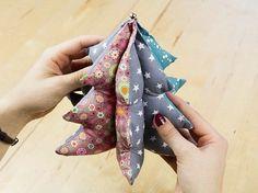 Tutorial DIY: Uszyj dekoracyjną choinkę przez DaWanda.com