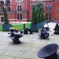 Rolling Chairs. Victoria & Albert Museum. London, July 2012.