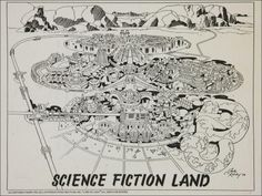 Science Fiction Land a theme park design by Jack Kirby and Mike Royer 1978
