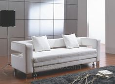 White Sofa On Nubo Sofa Bed White Leather Sofas Sleeper By Modern Line  Furniture