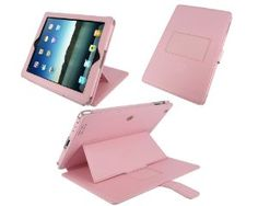 Amazon.com: rooCASE Convertible Genuine (Pink) Leather Case for 4th Generation iPad with Retina Display / the new iPad 3rd / Apple iPad 2 (Automatically Wakes and Puts the iPad to Sleep): Computers & Accessories  $29.95 Amazon