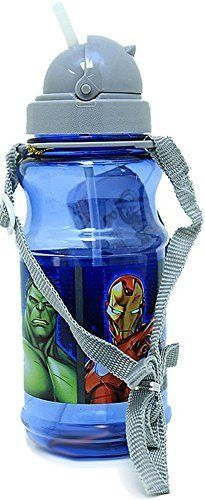 Marvel Avengers Water Bottle for Kids  Iron Man Hulk Thor Hawkeye and Captain America -- Click image to review more details.Note:It is affiliate link to Amazon.