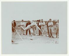 Shot-put competition at the Turner Games.