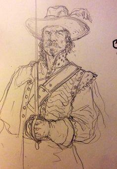 Art of Karl Kopinski -     One more musketeer for y'all