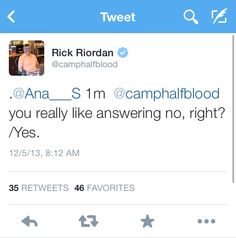 Careful, Uncle Rick, your sass is showing. | Rick Riordan | tweets | twitter | uncle rick | rick tweets