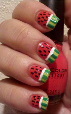 Watermelon Nails - use on toenails.