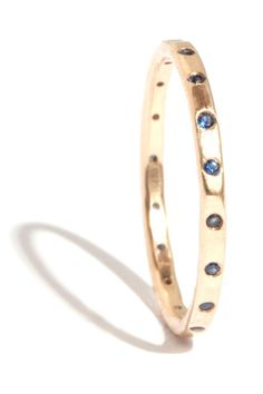 30 Engagement Rings For Women Who Hate Bling  #refinery29 - Melissa Joy Manning 18K Gold Blue Sapphire Wedding Band