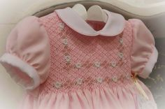 Pink Dress Smocked with Daisies