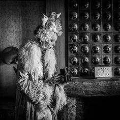 'Goodbye to Berlin' silk velvet and ostrich feather 1920s style opera coat by Joanne Fleming Design.....photographer; Peter Binnie.....stylist: Lisa Fifer