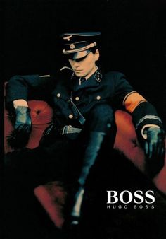 Hugo Boss started his clothing company in 1924 in Metzingen. His company was supplier for Nazi uniforms since Hugo Boss was one of the firms contracted by the Nazis to design the black SS uniforms along with the brown SA shirts, and the Hitler Youth Hugo Boss, World History, World War, Ex Machina, Nagasaki, Men In Uniform, Pilot Uniform, Poses, Interesting History