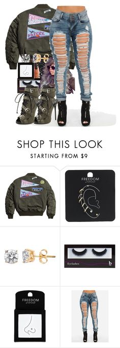 """""""Untitled #18"""" by thaofficialtrillqueen ❤ liked on Polyvore featuring Topshop, KEEP ME, BBrowBar and Giuseppe Zanotti"""
