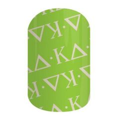 Kappa Delta Sorority Fans! These nail wraps are perfect for you!  Click the picture to get them now! No dry time, non-toxic, vegan, allergy friendly and lasts about 2 weeks on your mani!