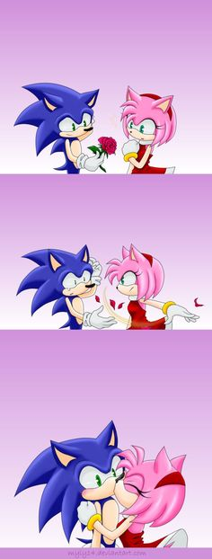 """Entry for the contest amy: sonic sonic : yes amy? """"give the heart"""" sonic : haaa amy.. amy : i knew you'd say no sonic : """"smile"""" sonic : amy... amy : """"look at sonic"""" sonic : """"kiss"""" Thanks to for th..."""