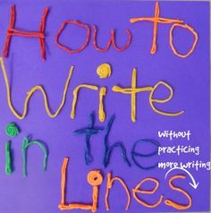 visual spatial activities for writing in the lines