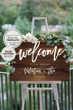 This printable welcome sign has a distinctly elegant aesthetic, a perfect example of the adage less is more. Dont let event stationery be an afterthought, let this printable welcome sign tell your story. We fully customise each sign with your words. Wedding Table Centerpieces, Wedding Flower Arrangements, Flower Centerpieces, Wedding Decorations, Centerpiece Ideas, Table Decorations, Wedding Welcome Signs, Wedding Signs, Wedding Ceremony