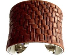 Silver Metallic Lizard Leather Cuff Bracelet by by UNEARTHED