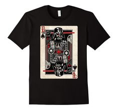 Star Wars Darth Vader King of Spades T-Shirt - #starwars #darthvader #shirt @ https://starwargift.com/bes
