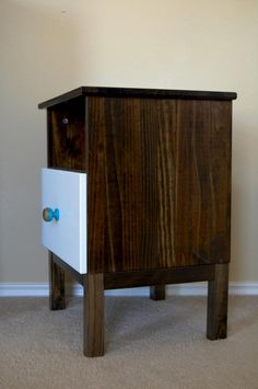Ikea Hack: TARVA Nightstand with Minwax Dark Walnut stain