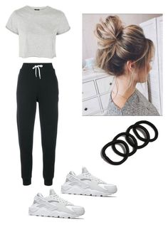 """Mondays"" by haileymagana on Polyvore featuring Maison Kitsuné, Topshop and NIKE"