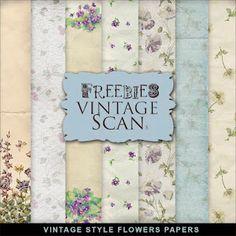 ❥ Freebies Vintage Backgrounds~ Summer Flowers!!