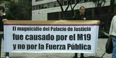 El magnicidio del palacio de justicia fue causado por el M19 y no por la fuerza pública pic.twitter.com/YUzPBfcP49