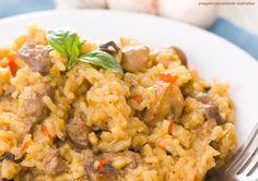 Risoto de arroz integral com legumes  e castanha Mundo Verde