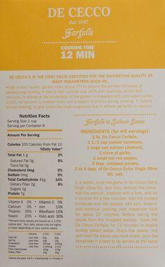 DeCecco Pasta Packaging by Paulina N., via Behance
