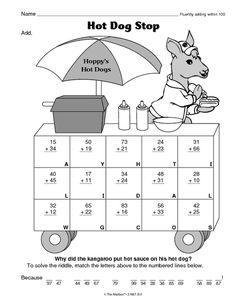 Math Worksheet: fluently adding within 100