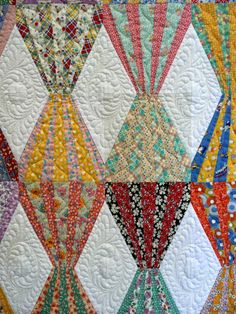 Circus Tent quilt by Elaine Haycraft; quilted by Denise Green.  Closeup photo by Sue Garman.
