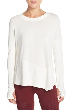 Alo 'Lean To' Asymmetrical Fleece Pullover available at #Nordstrom
