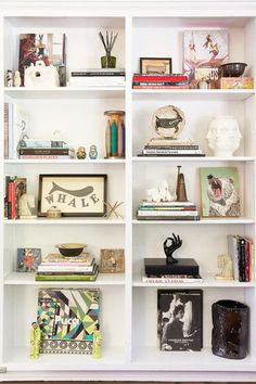 What are some of your favorite keepsakes on your bookshelf? - Inside A Designer's California-Cool Abode - Photos