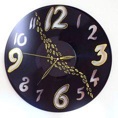 Ja spravím vinylové hodiny za 22€   Jaspravim.sk Clock, Wall, Home Decor, Watch, Decoration Home, Room Decor, Clocks, Walls, Home Interior Design