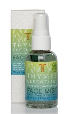 Thymes Face Mist, Essentials, 2-Ounce Bottle by Thymes. Save 10 Off!. $18.00. 2 ounces of Thymes Essentials Face Mist. Boosts skin radiance with soothing otto of rose oil and rose floral water as sweet bergamot revives and replenishes thirsty skin. Beautifully packaged to treat yourself, give as a gift or combine with other Thymes products to create a wonderful gift basket. Dermatologist tested, safe and mild, soothing alcohol-free formula. Thymes Essentials has the fragrance of a...