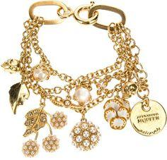 Alexander Mcqueen Gold Charm Bracelet